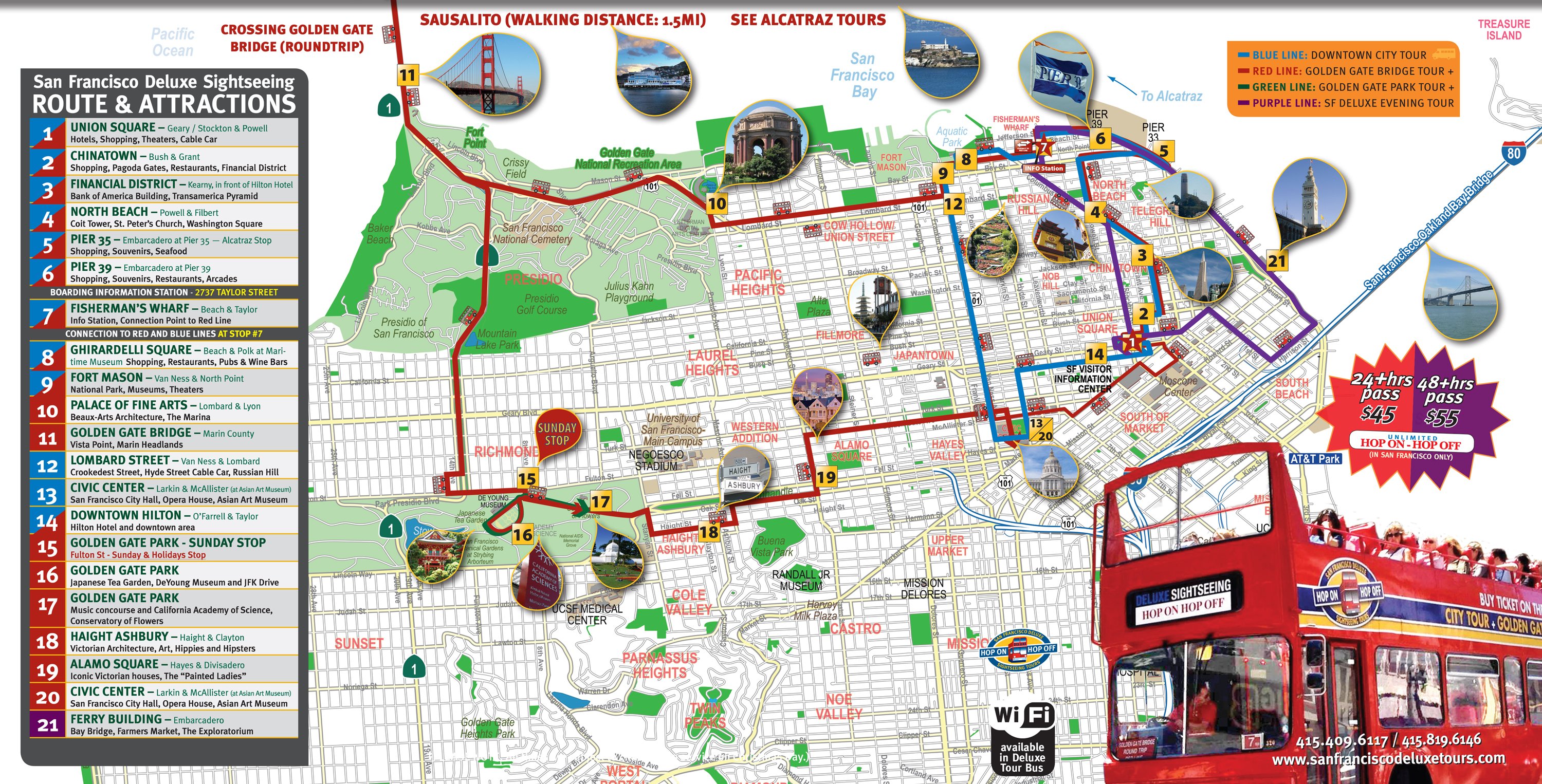 San francisco deluxe sightseeing tour routes publicscrutiny Image collections